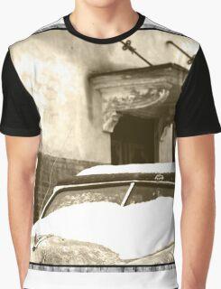 Sepia Snow Graphic T-Shirt