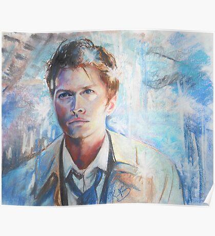 Castiel in Chalk Pastel Poster