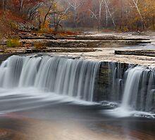 Misty Morning Waterfall by Kenneth Keifer
