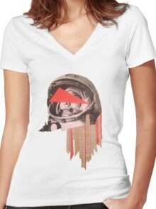 Gagarin Women's Fitted V-Neck T-Shirt