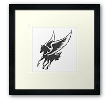Engraving Winged Horse Framed Print
