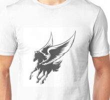 Engraving Winged Horse Unisex T-Shirt