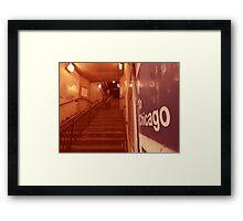 to chicago Framed Print