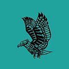 Black Eagle Logo  by ElysianImagery