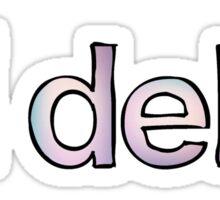 Tri Delta Fade Sticker