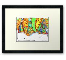 deserts of water Framed Print