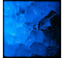 Crazy Blue Ice 4 Photographic Print