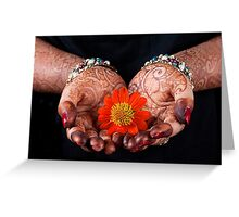 Offering Flower Greeting Card