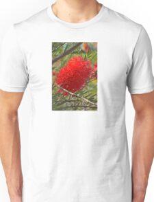 Red Bottle Brush Unisex T-Shirt