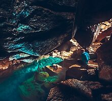 Grjótagjá: Hot spring in a cave in Iceland by markbot