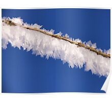 Ice crystal comet Poster