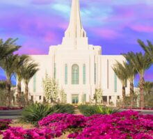 Gilbert Arizona Temple - Red Flowers - 30x20 Sticker