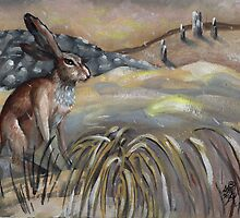 Winter Hare. by resonanteye