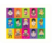Lil' Lilley All Characters  Art Print