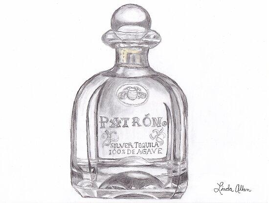 Patron Tequila Bottle by Linda Allan
