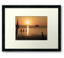 Thai'Sunset Framed Print