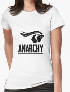 Anarchy (Black Text) Womens Fitted T-Shirt