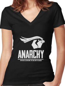 Anarchy Women's Fitted V-Neck T-Shirt