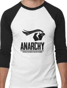 Anarchy (Black Text) Men's Baseball ¾ T-Shirt