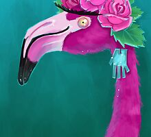 Frida Flamingo by cassiaramone
