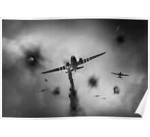 Dakotas at Arnhem, black and white version Poster