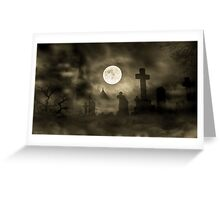 Spooky Graveyard Greeting Card