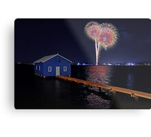 Crawley Edge Boatshed Fireworks Metal Print