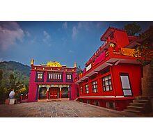 Buddhist monastery in Rewalsar. Photographic Print