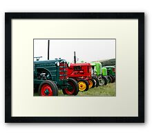 Tractor parade Framed Print