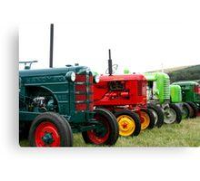 Tractor parade Canvas Print