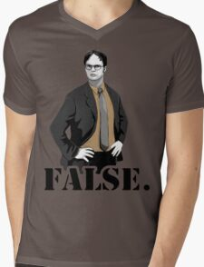 The Office|Dwight|Flase Mens V-Neck T-Shirt