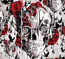 Melt down grunge rose skull by KristyPatterson
