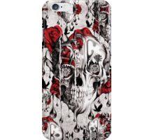 Melt down grunge rose skull iPhone Case/Skin