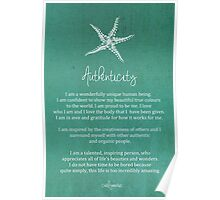 Affirmation - Authenticity Poster
