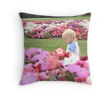 Jack in the Flowers at Werribee Mansion Throw Pillow