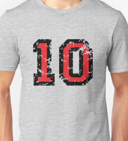 The Number Ten - No. 10 (two-color) red Unisex T-Shirt