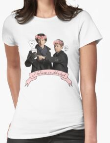 I believe in Johnlock Womens Fitted T-Shirt