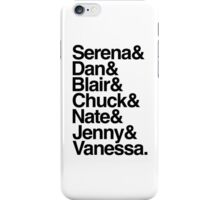 Serena & Dan & Blair & Chuck & Nate & Jenny & Vanessa from Gossip Girl  iPhone Case/Skin