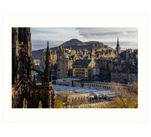 The old town from Princes street Art Print