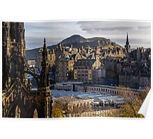 The old town from Princes street Poster