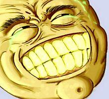 Golden kek - Big Grin (Grinface) - NEVER EVER - Epic lulz guy by freelaffs