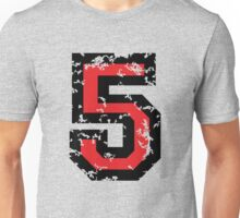 Number Five - No. 5 (two-color) red Unisex T-Shirt