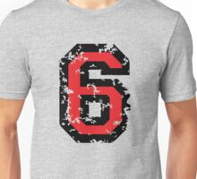 Number Six - No. 6 (two-color) red Unisex T-Shirt