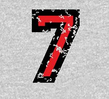 Number Seven - No. 7 (two-color) red Unisex T-Shirt
