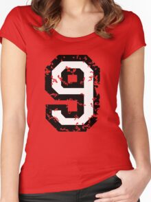 Number Nine - No. 9 (two-color) white Women's Fitted Scoop T-Shirt
