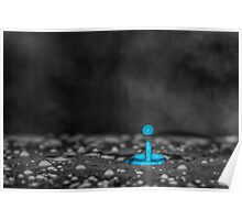 Blue paint drop Poster