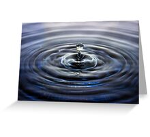 Suspended water drop Greeting Card