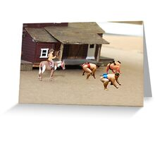As far as I know, Dorothy is the first and only female Sumo rustler. Greeting Card