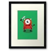 Brubby - The Super Ball (Cartoon) Framed Print