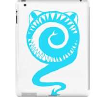Round Scream in Blue iPad Case/Skin